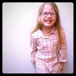 Baby Gap Pink Plaid Flannel Shirt